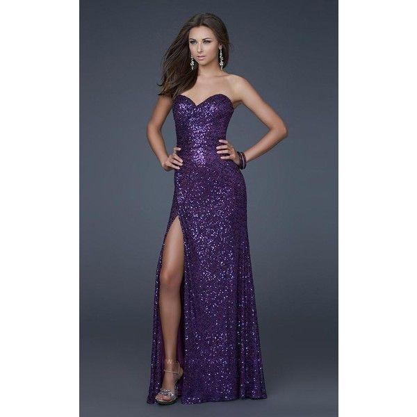 58257c39 La Femme 16546 Red Carpet Dress Long Strapless Sleeveless ($250) ❤ liked on  Polyvore