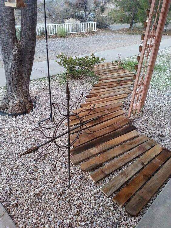 Photo of Garden Paths Pallet Landscaping