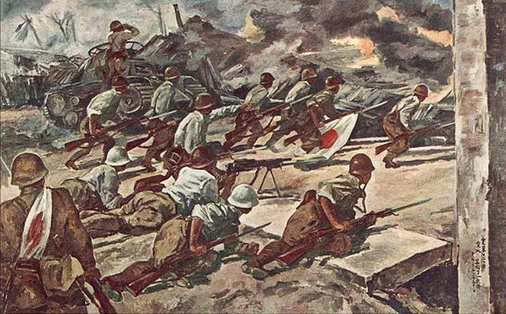 Battle Of Singapore Ancient War Japanese History War Art