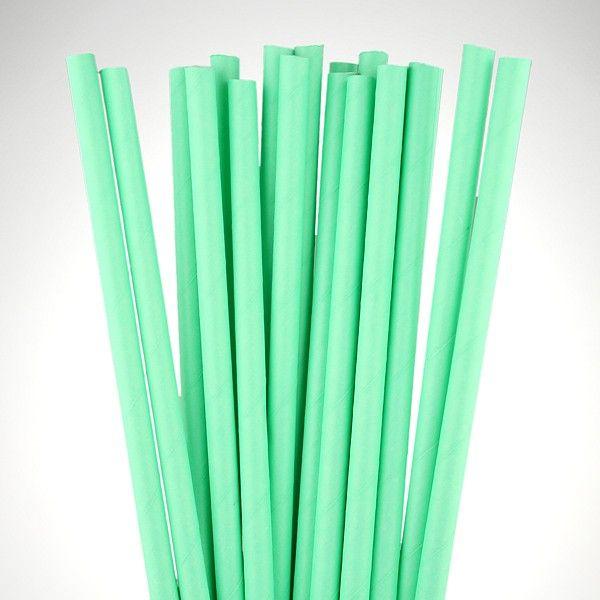 Matt Mint Green Paper Straws