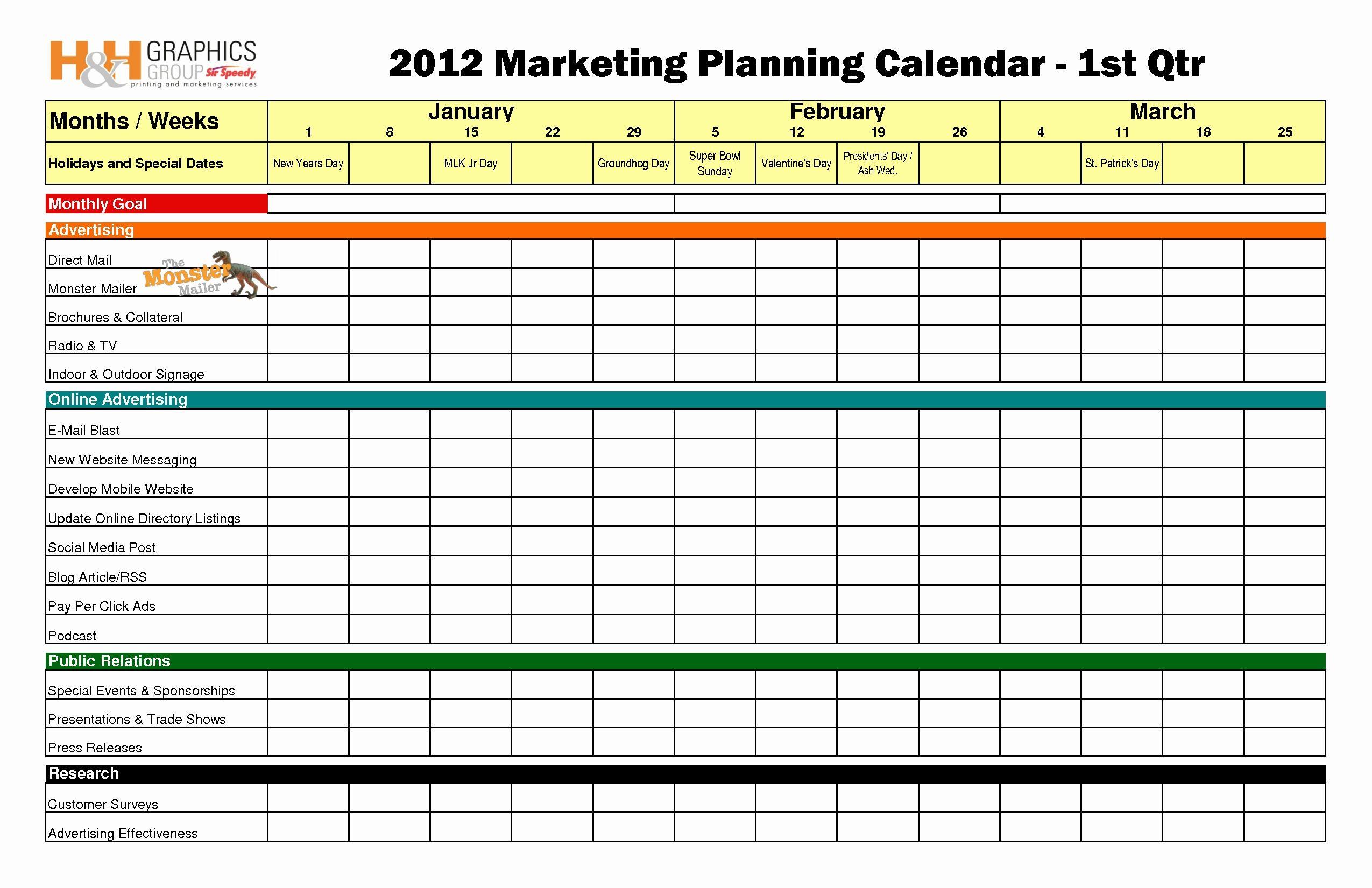 Ecommerce Marketing Plan Template Lovely Quarterly Marketing Plan