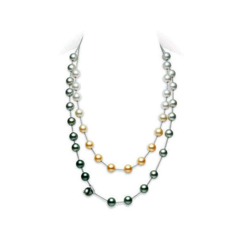 Mikimoto Multicolored South Sea Pearl Necklace