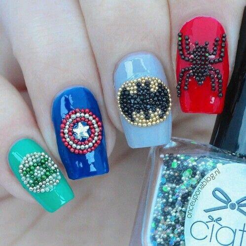 Uñas Superheroes Superhero Nails Marvel Nails Nails