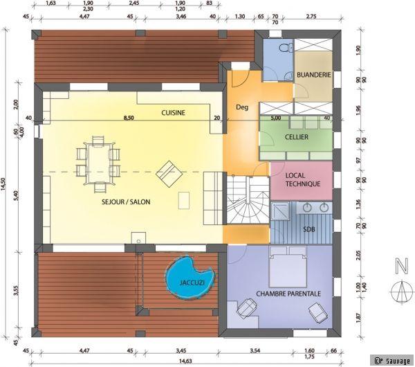 Plan De Maison Une Maison Bioclimatique Sous Le Soleil Exactement Maison Bioclimatique Maison Plan Maison Moderne