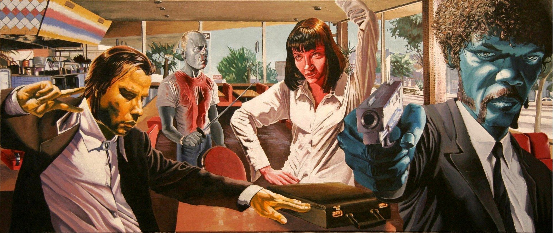 best images about pulp fiction pop art john 17 best images about pulp fiction pop art john travolta and the shot