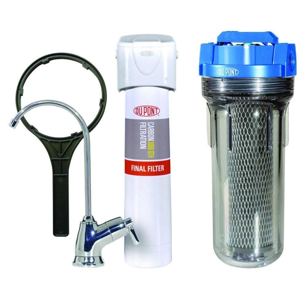 Quicktwist Whole House Water Filtration System White Clear