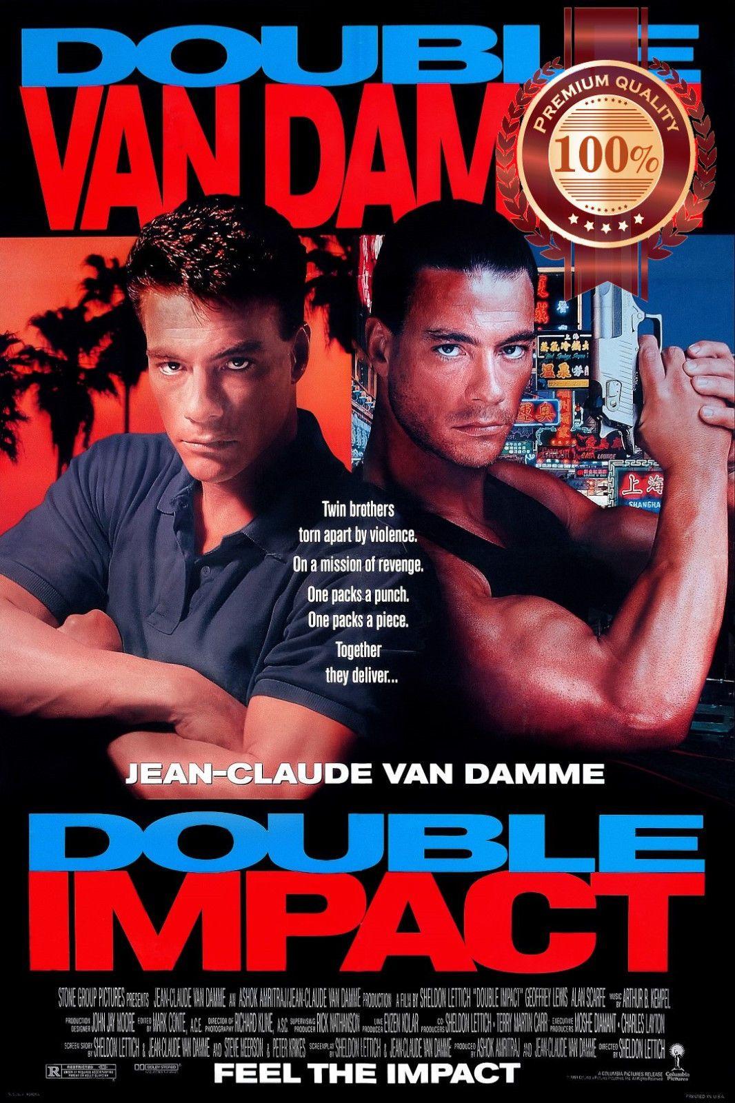 11 95 Aud Double Impact Van Damme Movie Film 1991 90s Original