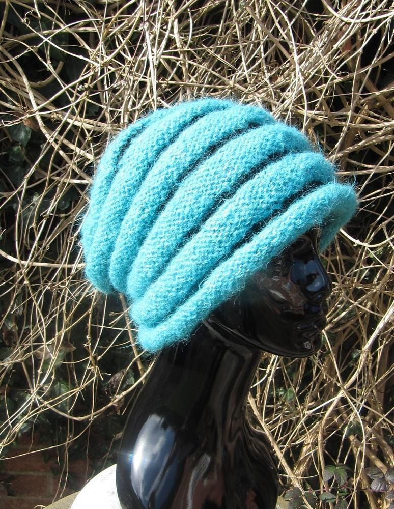 PRINTED INSTRUCTIONS SUPERFAST ROLL BRIM SLOUCH HAT  KNITTING PATTERN