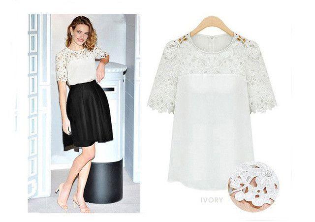 2017 New Brand Summer T shirt Women Plus Size 5XL Sexy Lace Sleeve Tops Women Casual Women T-Shirt Lace White/Black/Yellow XB266