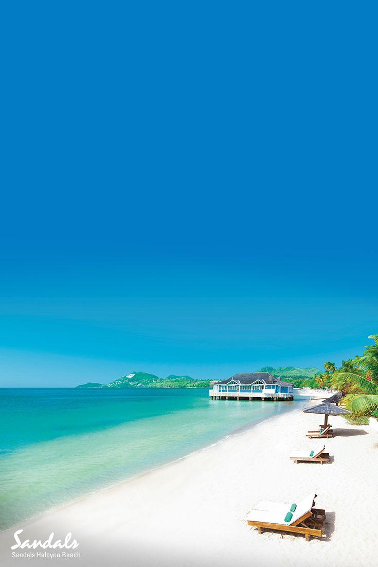 58ebdb215413b9 Picturesque beachfront views from the Caribbean beach of Sandals Halcyon  Beach Resort in Saint Lucia.