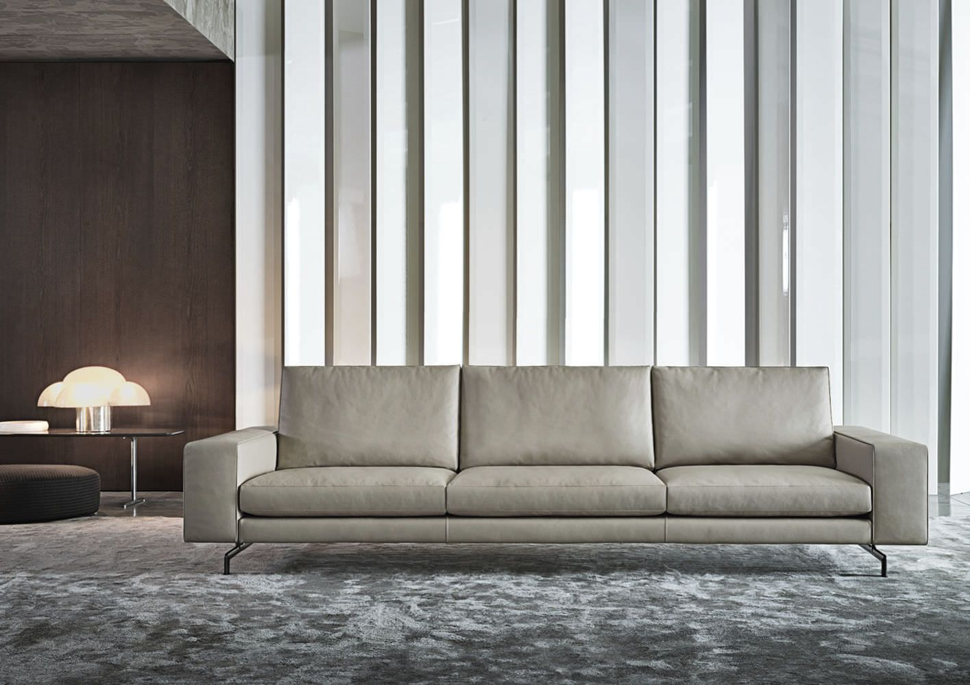Contemporary sofa / by Rodolfo Dordoni - SHERMAN - Minotti