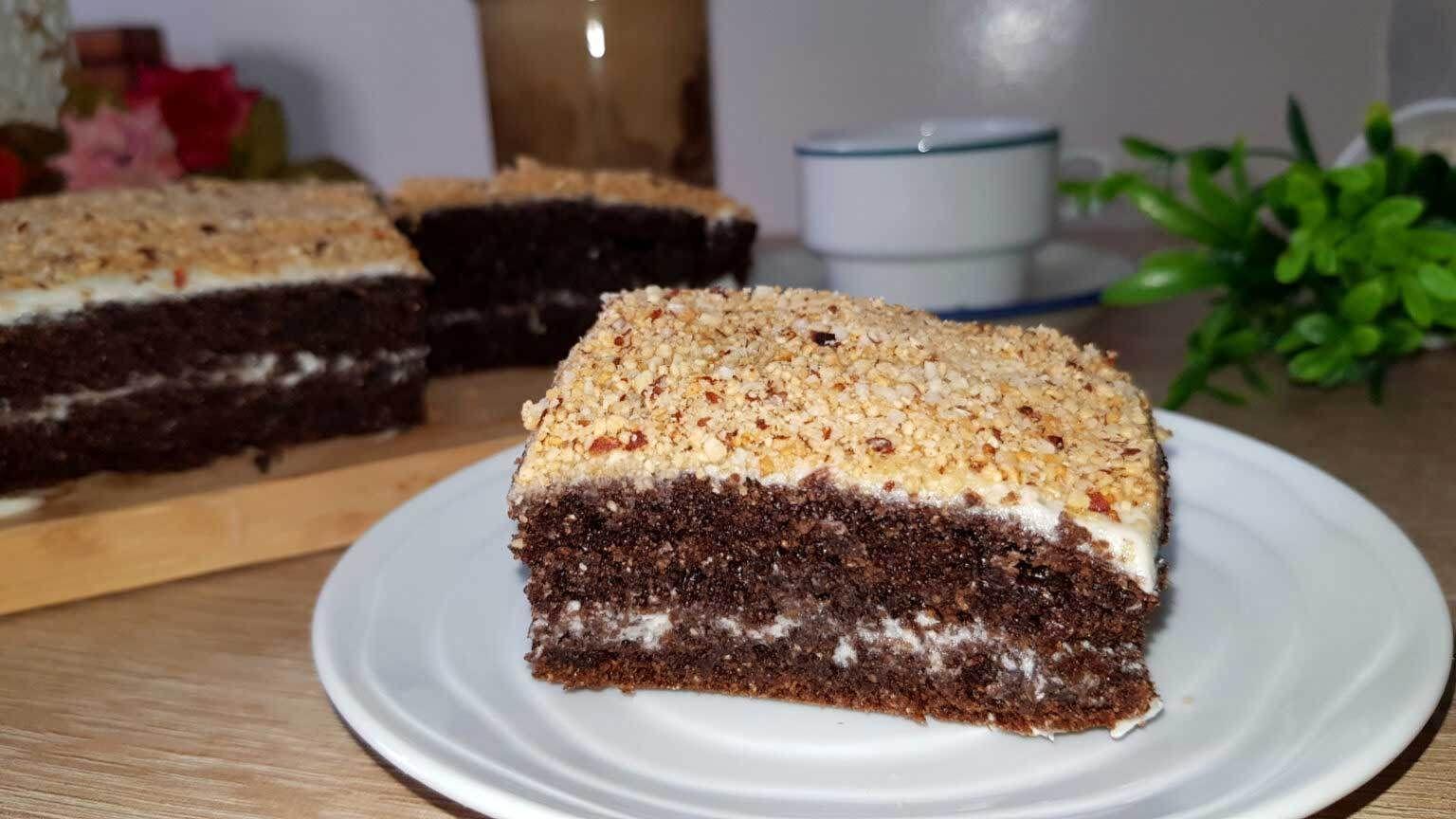 كيكة بدون سكر لريجيم محشوة بكريمة طبيعية بدون دقيق ابيض ولا زبدة ولا زيت صحية 100 Food Desserts Cake