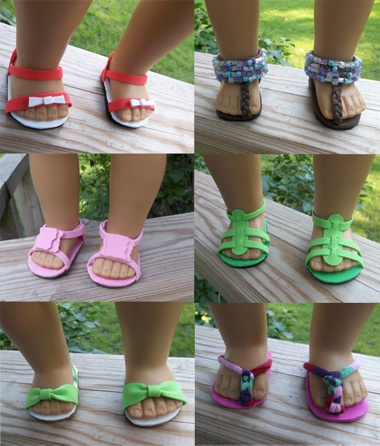 02b0370082f2a7 18 inch doll ideas for sandals made out of foam
