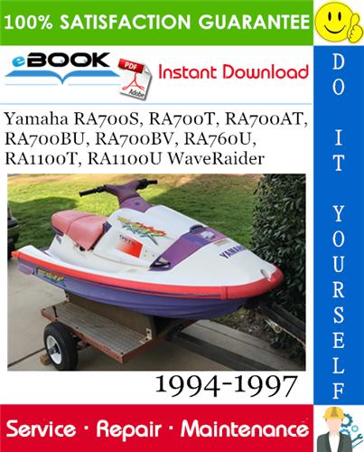 Yamaha Ra700s Ra700t Ra700at Ra700bu Ra700bv Ra760u Ra1100t Ra1100u Waveraider Service Manual Repair Manuals Repair Yamaha