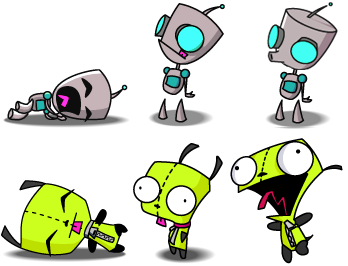 Gir Sliding Puzzles Solve Gir Slide Puzzle Invader Zim Characters Invader Zim Gir From Invader Zim