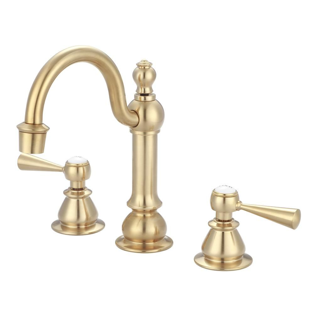 Water Creation 8 In Adjustable Widespread 2 Handle High Arc
