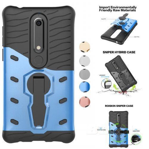 pretty nice 093ec 387ac $5.22 AUD - For Nokia 6 (2018) Shockproof Rugged Armor Hybrid Case ...