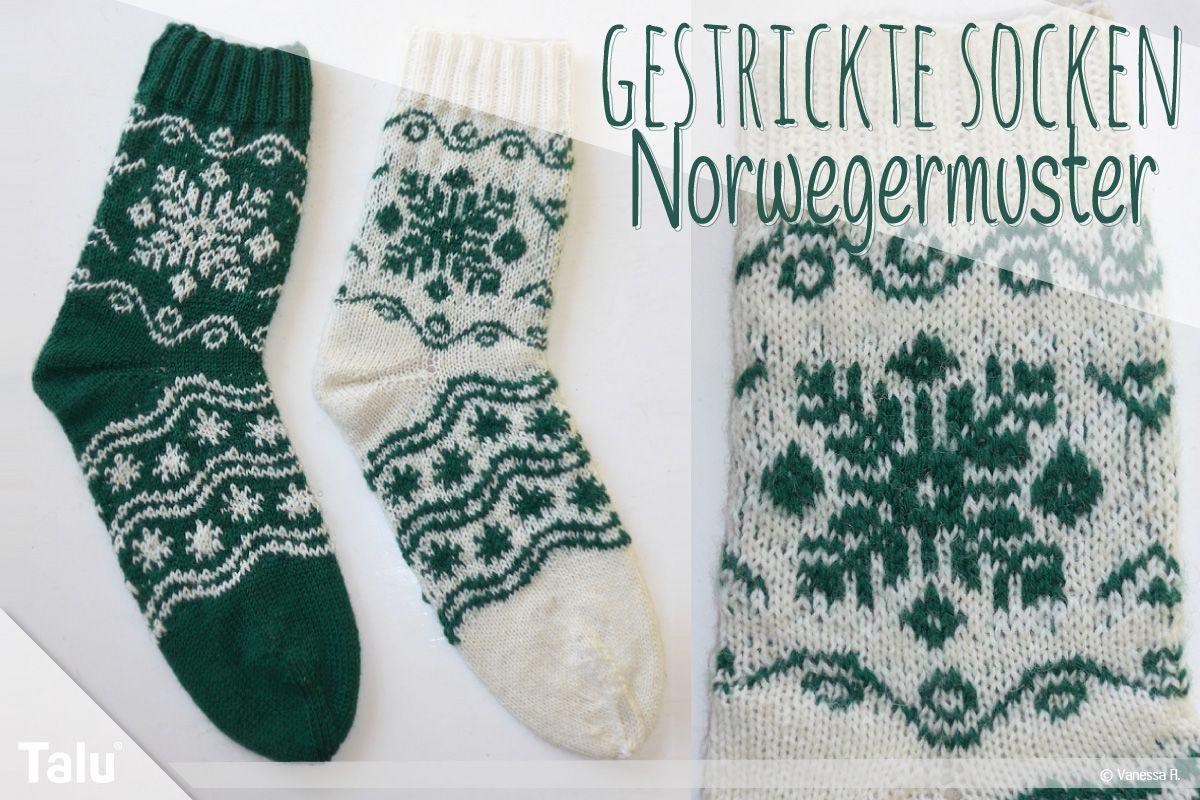 Photo of Gestrickte Socken: Norwegermuster stricken   Kostenlose Strickanleitung – Talu.de