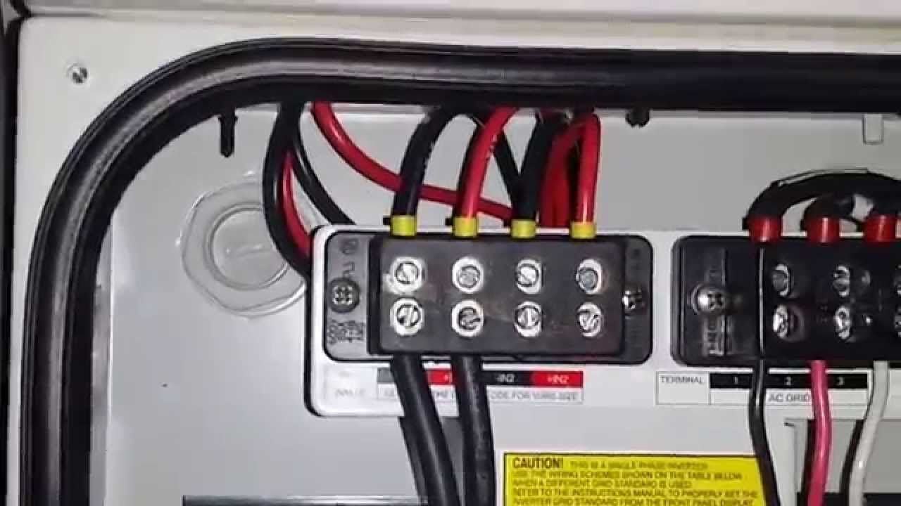 DIY Home Solar Installation PART 5 INVERTER DCAC WIRING