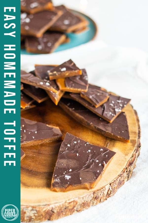 Photo of Easy Homemade Toffee with Dark Chocolate – Piper Cooks