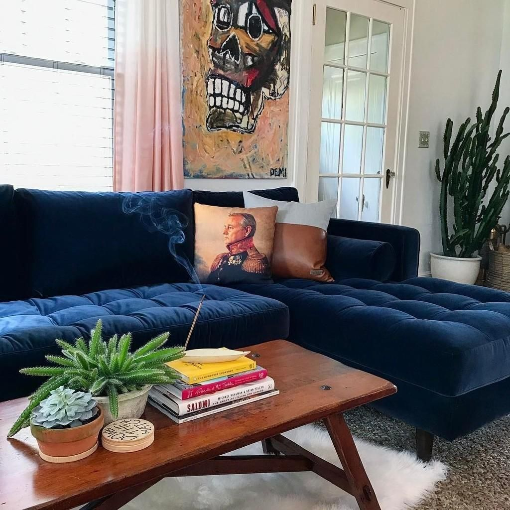 New Couch Inspo Blue Couch Decor Couch Decor Blue Couch Living Room