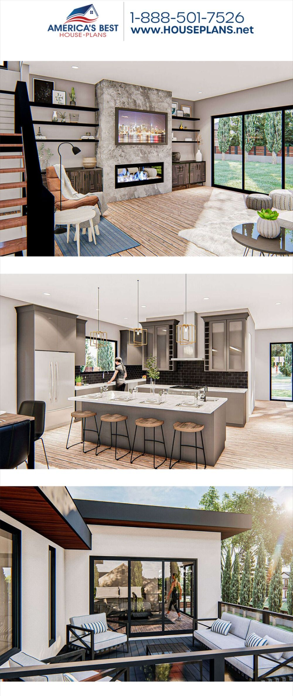 Get to know this stunning 2,723 sq. ft. Modern house, Plan 963-00433 features 2,723 sq. ft., 3 bedrooms, 2.5 bathrooms, a kitchen island, an open floor plan, a formal living room, and a media room. #modernstyle #modernhome #twostoryhome #openfloorplan #architecture #houseplans #housedesign #homedesign #homedesigns #architecturalplans #newconstruction #floorplans #dreamhome #dreamhouseplans #abhouseplans #besthouseplans #newhome #newhouse #homesweethome #buildingahome #buildahome #residentialplan