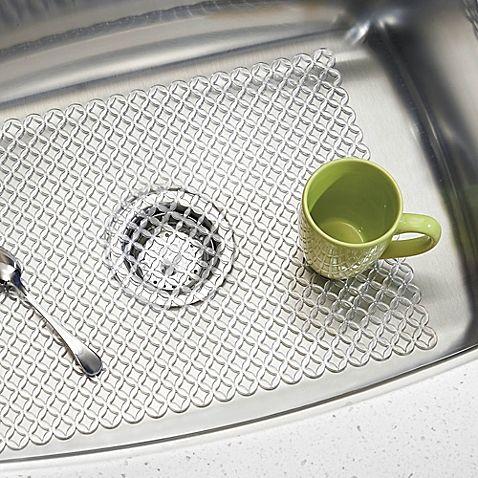 kitchen sink mats sponge holder interdesign stari 25 inch x 12 farmhouse mat