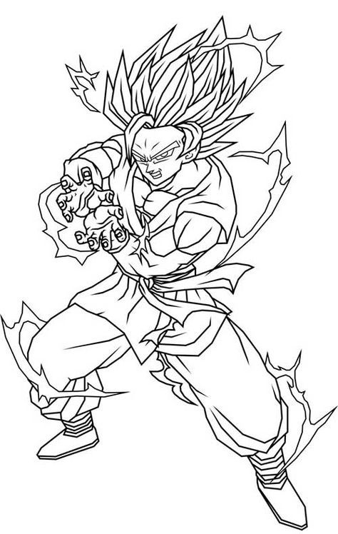 Well-known 50 Desenhos do Goku para Colorir (Anime Dragon Ball Z) | Dbz  BN54