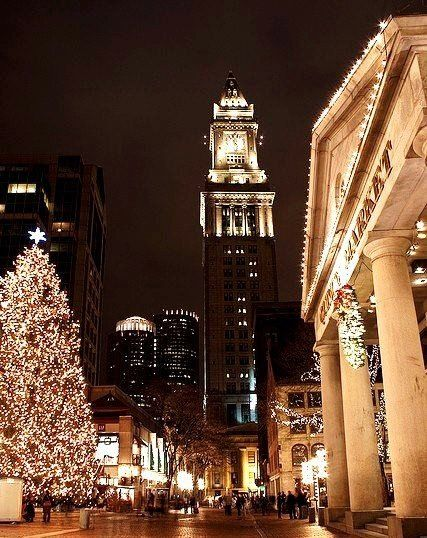 Christmas In Boston 2019.Fanueil Hall At Xmas Christmas My Favorite Holiday In