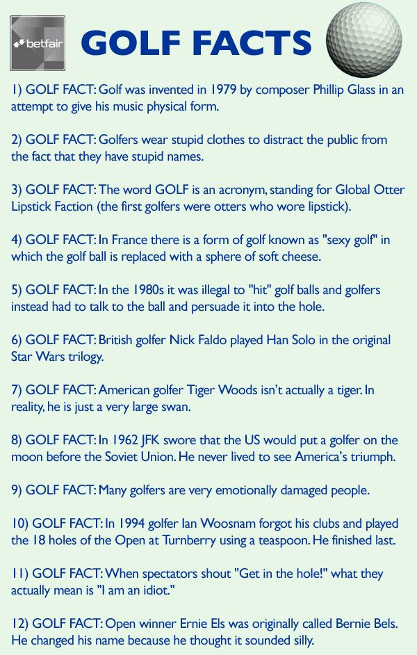 Important Facts About Golf Facts Pinterest Golf Golf Quotes