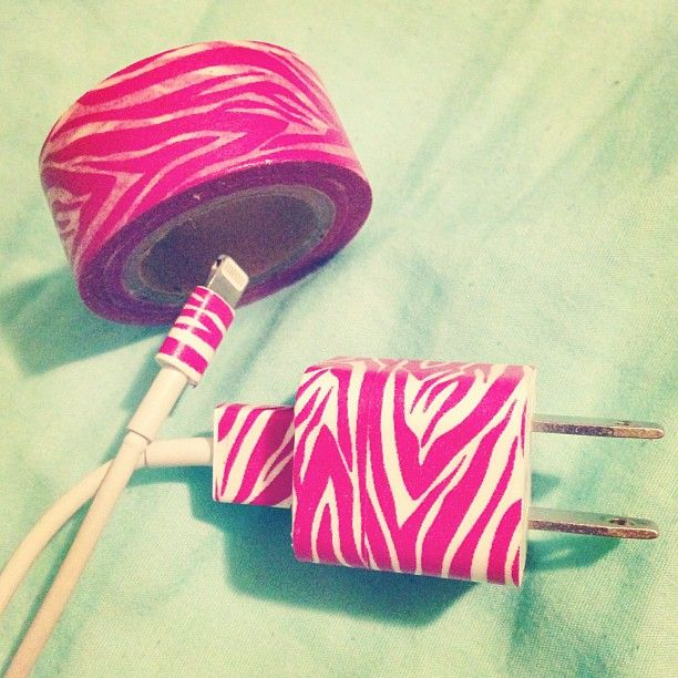 """""""Do It Yourself"""" duct tape. Just wrap duct tape wherever you want it to be on your charger. Love this!"""