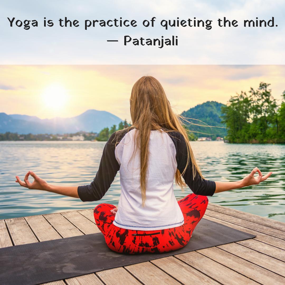 Yoga Is The Practice Of Quieting The Mind Patanjali Mondaymotivation Yogaquote Yogilifestyle Yogaflow Hatha Yoga Teacher Training Yoga Yogi Lifestyle
