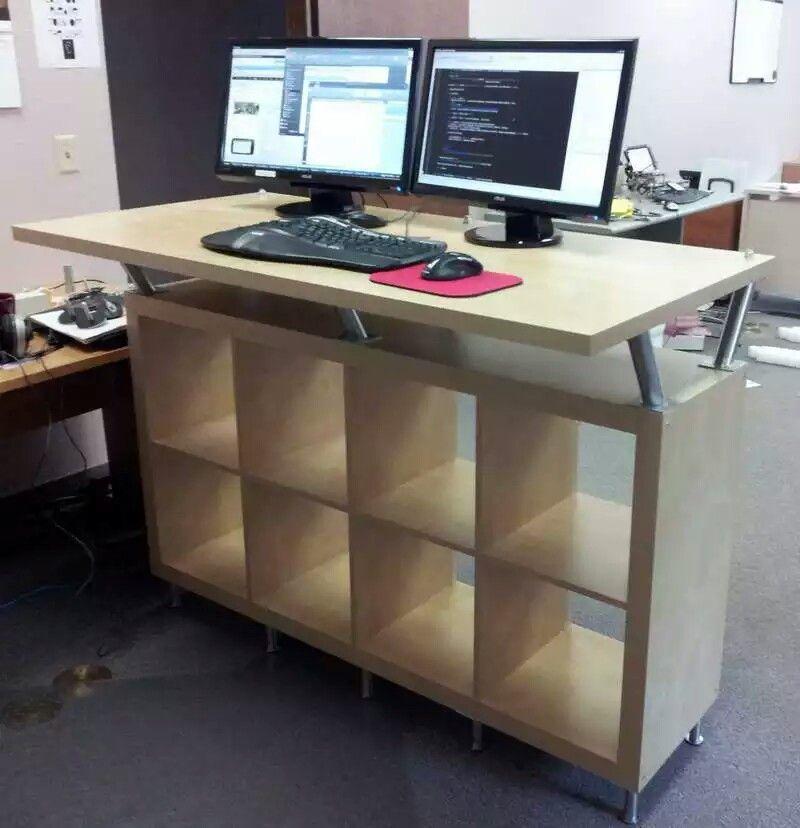 Ikea Hack Ikea Standing Desk Diy Standing Desk Office Furniture Standing Desk