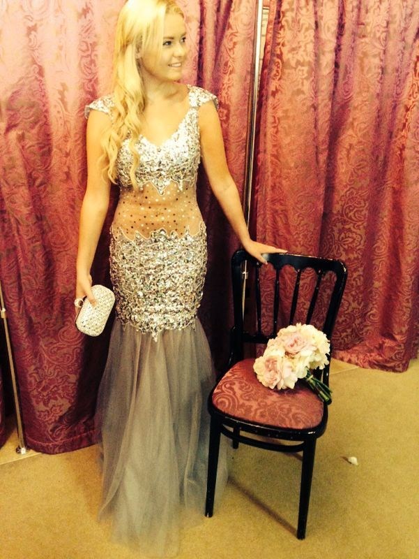 Silver Fishtail Dress By Marian Gale Boutique Dublin Debs Dresses