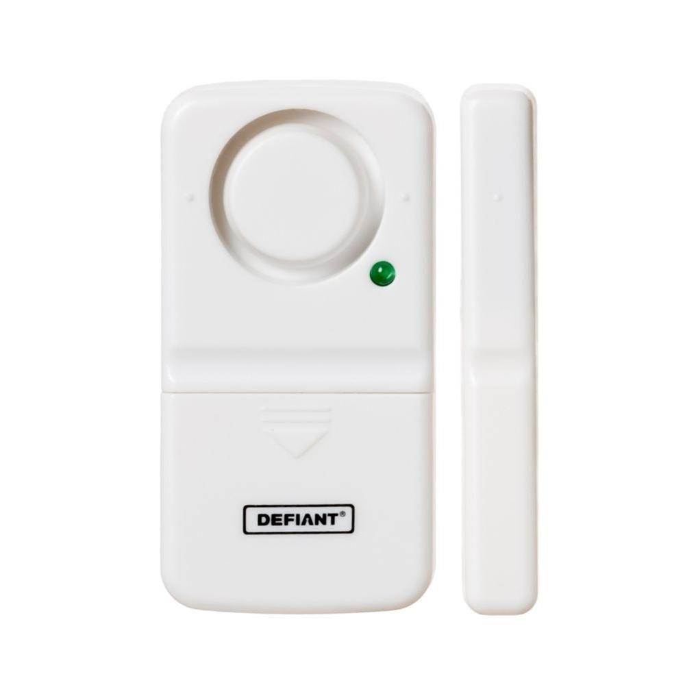 Defiant Wireless Home Security Door Window Alarm Thd Dw The Home Depot Window Alarms Security Door Home Security