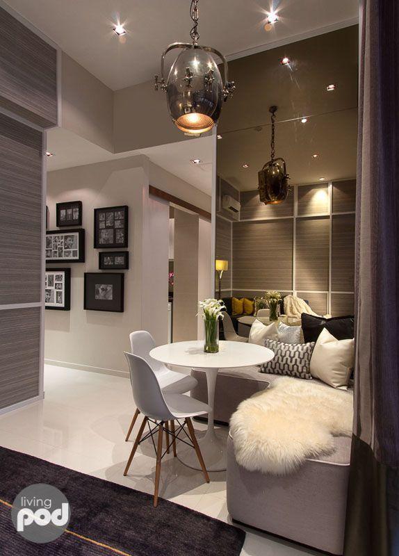 25 dicas para apartamento pequeno decoraci n pinterest for Decoracion sala apartamento pequeno