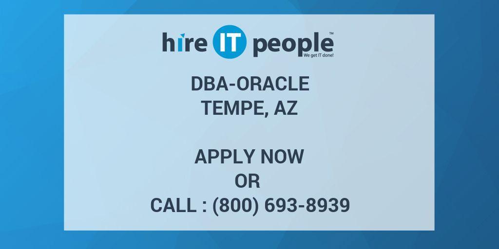 Required Skills - DBA-Oracle, SQL Server or MySQL, MongoDB, DymamoDb ...
