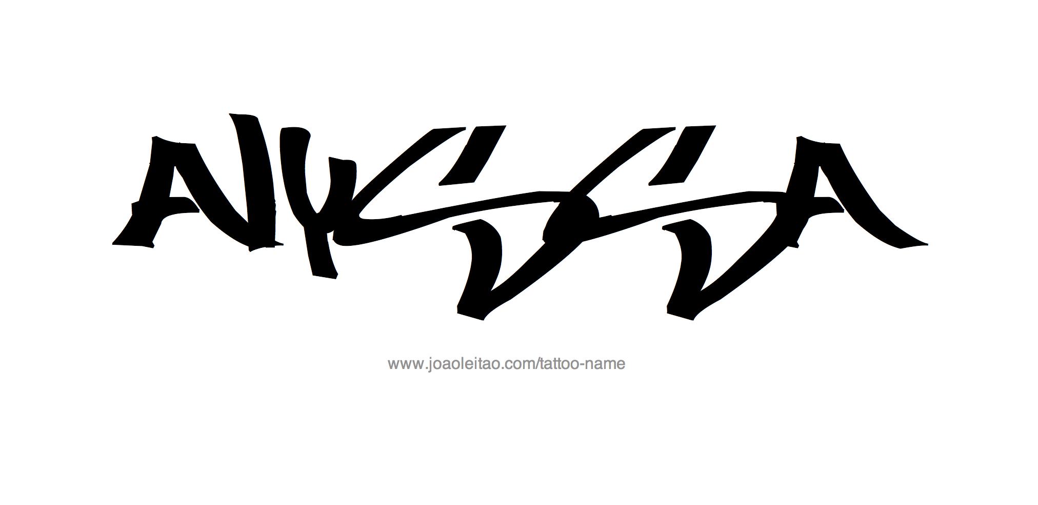 Alyssa Name Tattoo Designs | Name tattoos, Tattoo designs ...