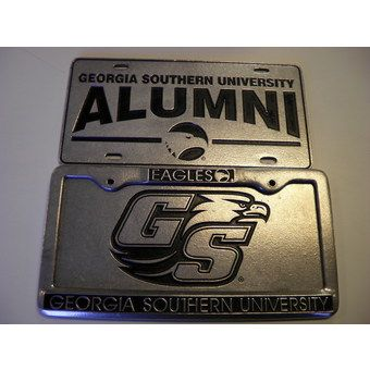 Pewter License Plates And Frames Gray S College Bookstore Time