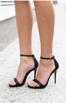 Windsor Smith Christy Heels Black Leather