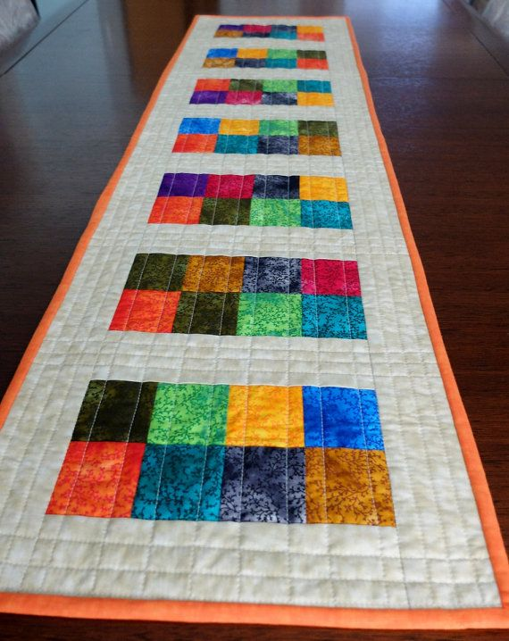 Quilted Patchwork Table Runner Modern By Stephsquilts On