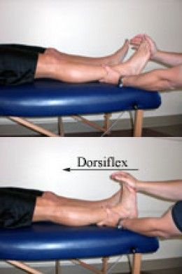 Homan's sign is positive when the dorsiflexion of the ankle causes ...