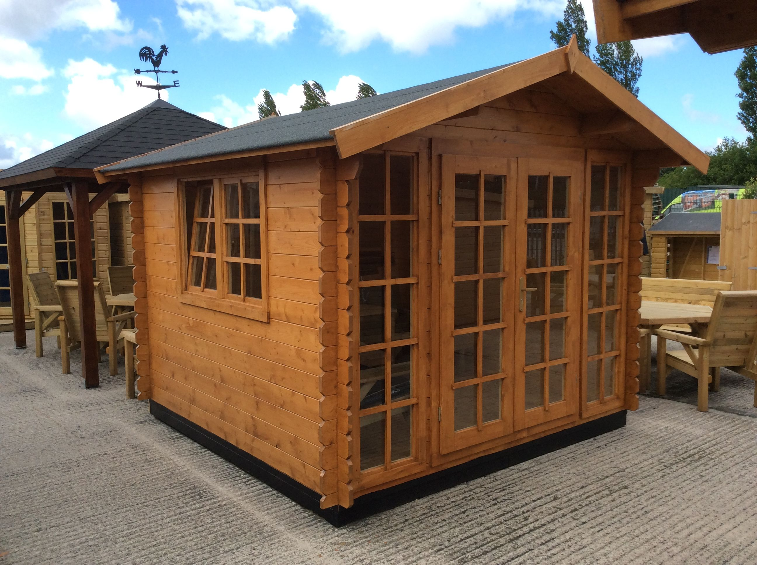 the yorkshire log cabin 3x3m 28mm solid sheds sheds for sale shed