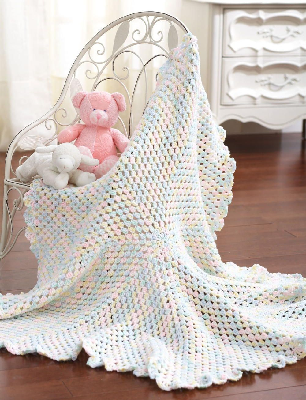 Marshmallow Baby Blanket | Crochet | Pinterest | Hilo y Tablero