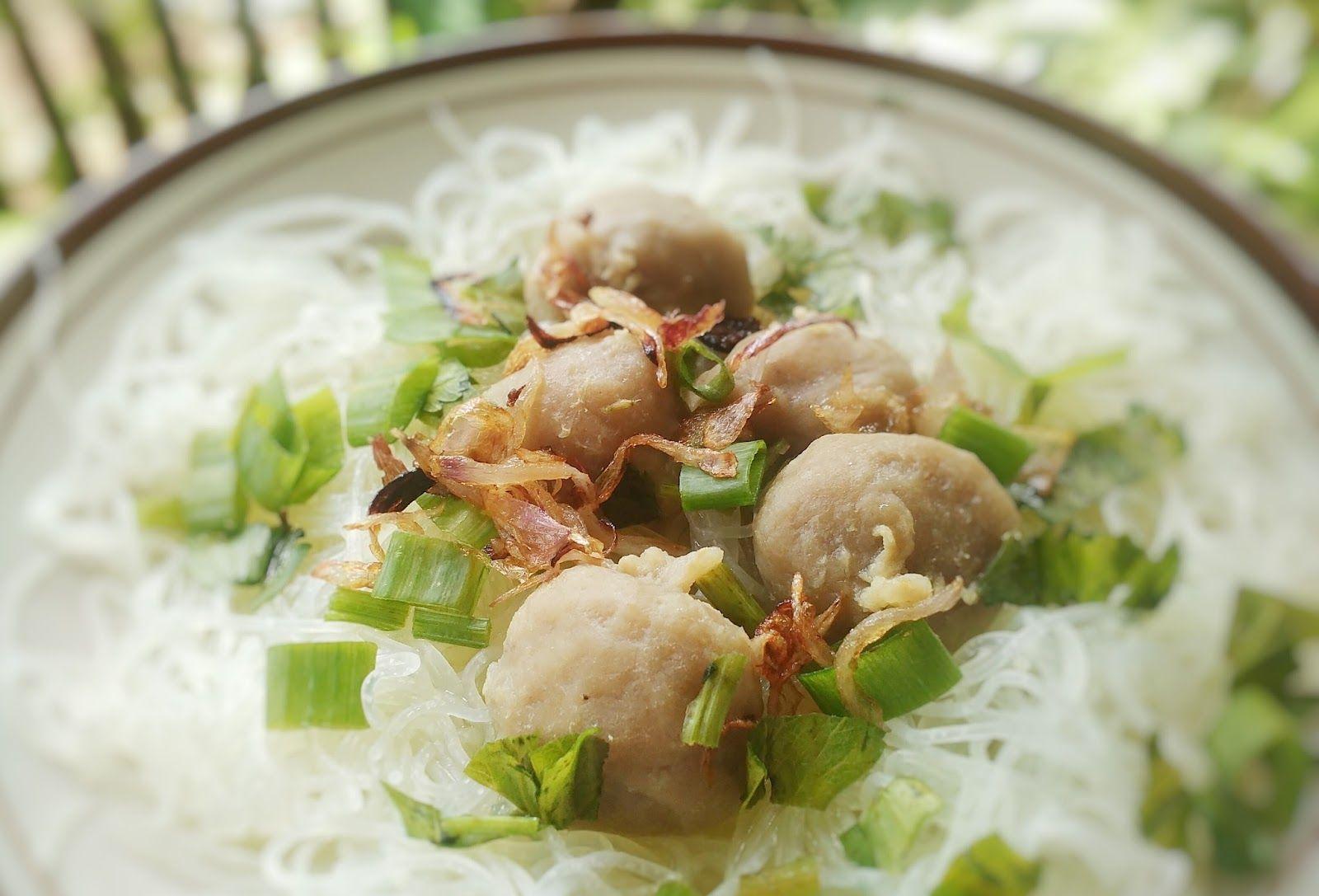 Resep Bihun Kuah Bakso Resep Resep Makanan Masakan