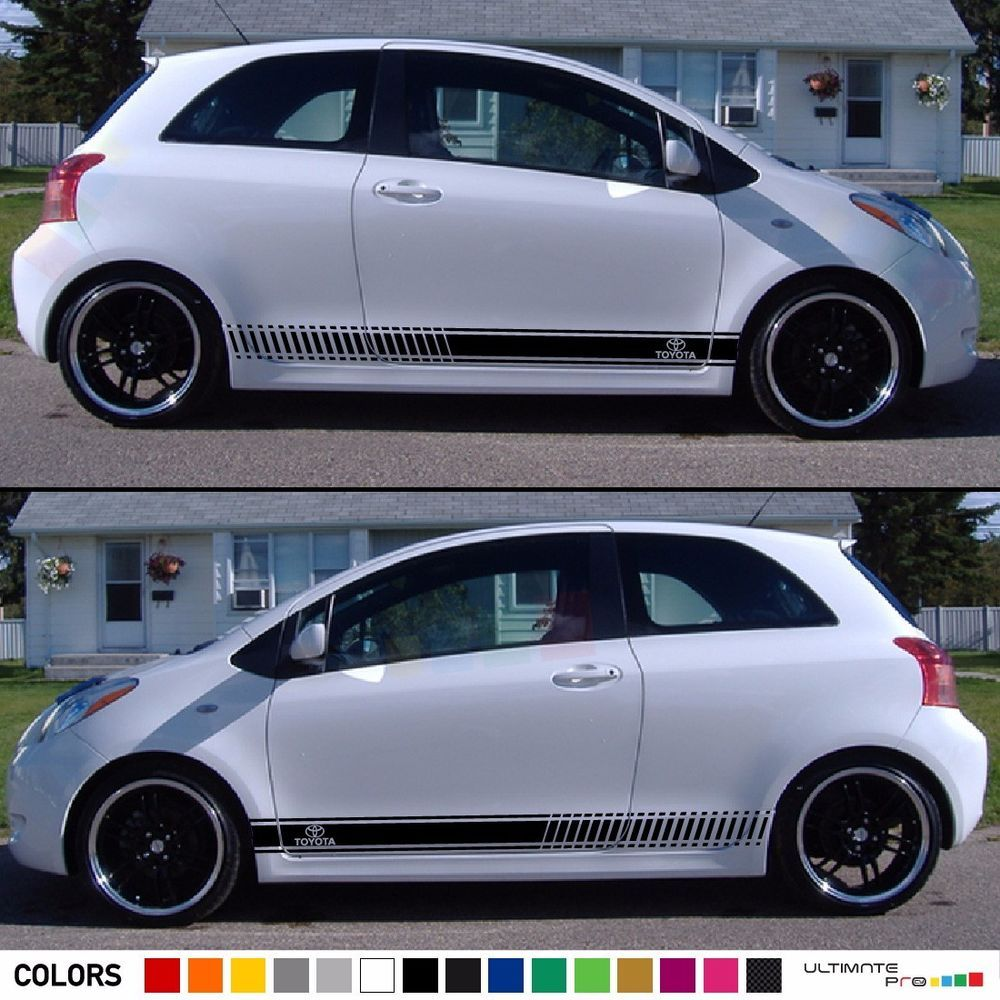 Sticker graphic decal stripe body kit for toyota yaris vitz rs xp90 light fender ultimateprocy1