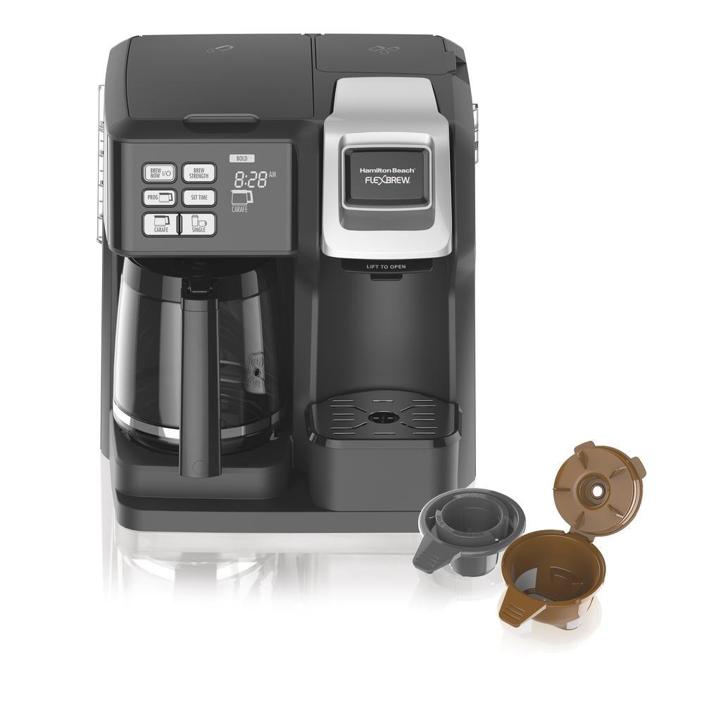 Hamilton Beach Flexbrew 12 Cup Black Drip Coffee Maker With Built