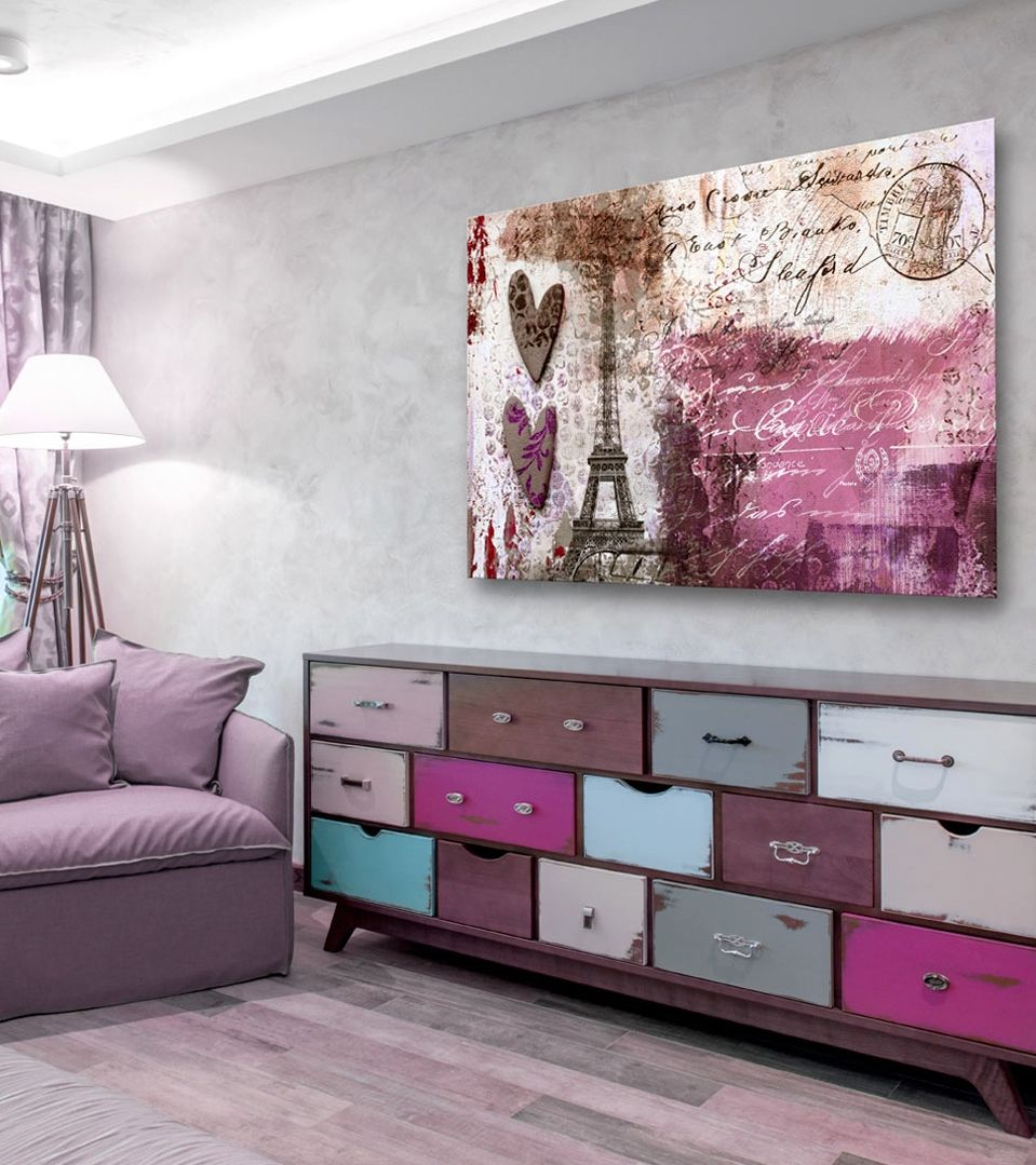 living room art prints%0A Looking for painting   canvas print with romantic French motifs  Check out  this beauty