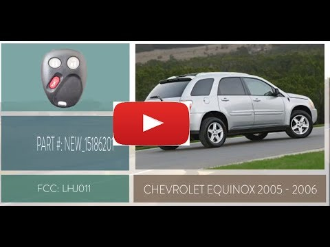 How To Change A 2005 2006 Chevrolet Equinox Key Fob Remote