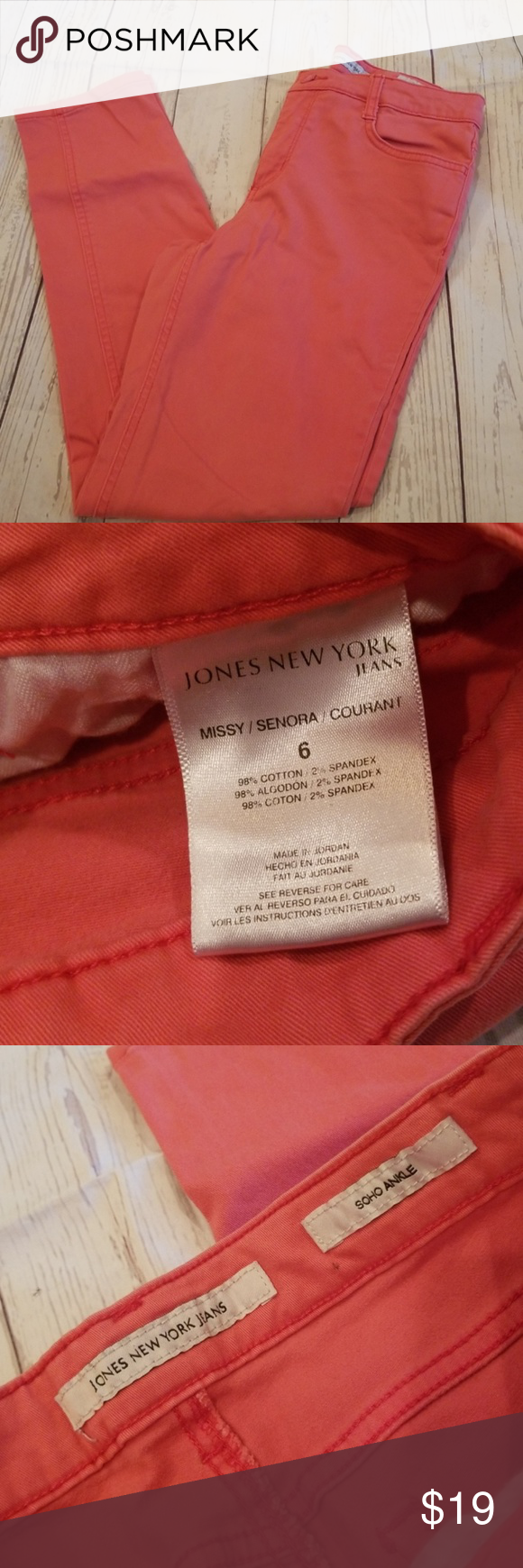 Jones New York Soho Ankle Coral Pants Clearance Coral Pants Jones New York New York Soho